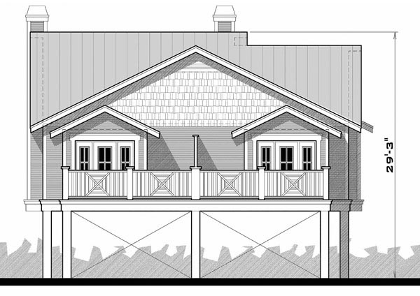 Florida House Plan 67537 Rear Elevation