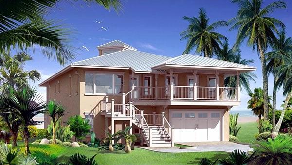 Florida House Plan 67542 Elevation