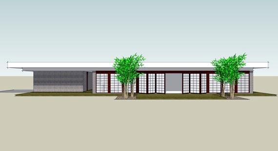 Contemporary Modern House Plan 67545 Elevation