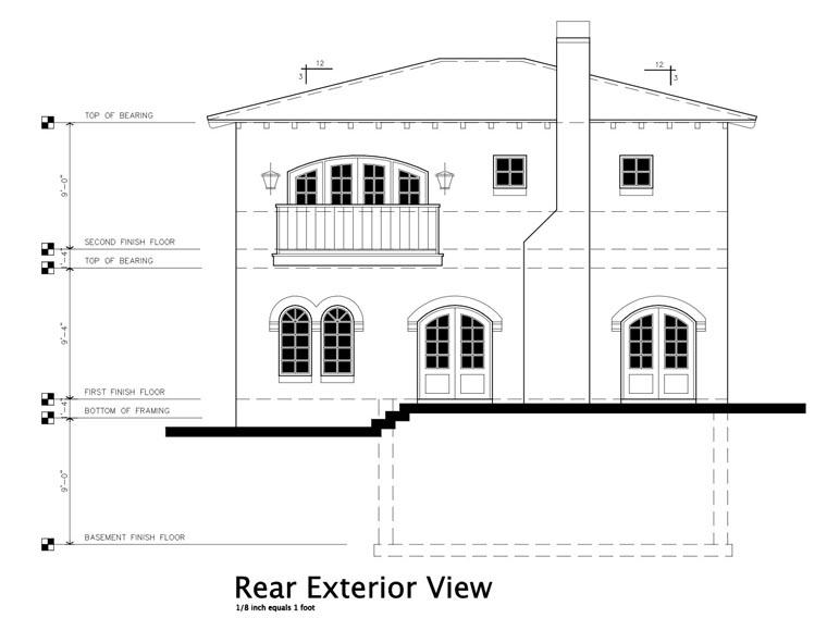Mediterranean House Plan 67554 Rear Elevation