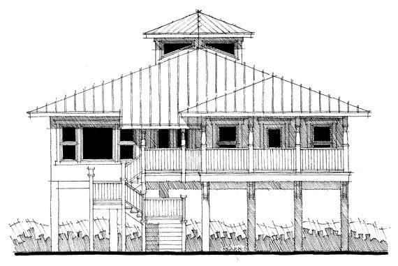 Coastal House Plan 67561 Elevation