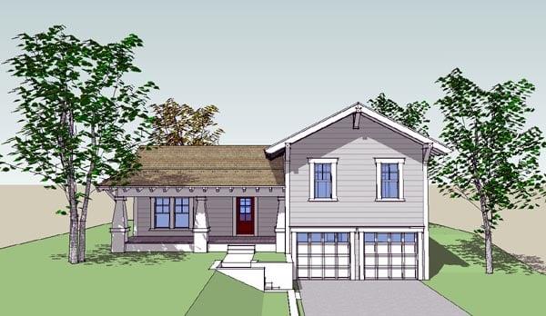 Bungalow Craftsman House Plan 67562 Elevation