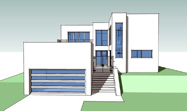 Coastal Modern House Plan 67566 Elevation