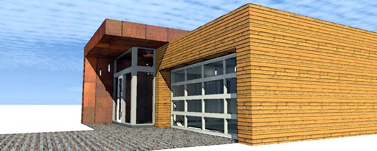 Contemporary Modern House Plan 67571