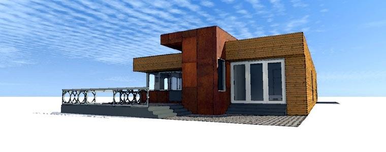 Contemporary Modern House Plan 67571 Rear Elevation