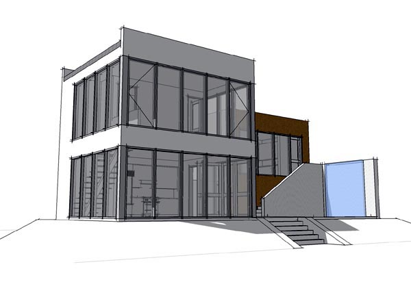 Coastal Contemporary Modern House Plan 67573 Rear Elevation