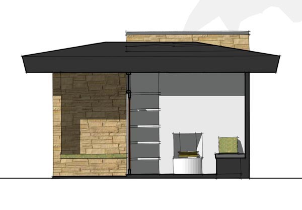 Contemporary, Modern House Plan 67579 with 1 Beds Picture 2