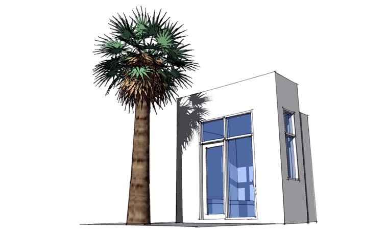 Contemporary, Modern House Plan 67580 with 1 Beds Picture 1