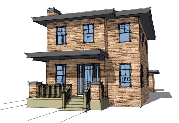 House plan 67581 at for Casa moderna 6x6