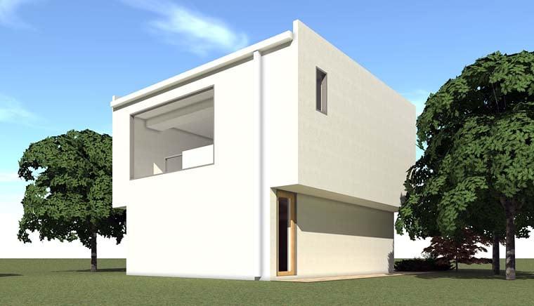 Contemporary Garage Plan 67589 Rear Elevation