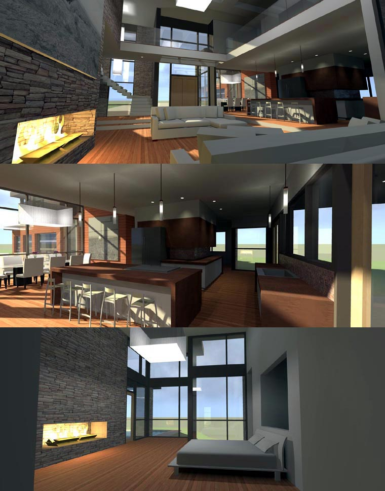 Contemporary Modern House Plan 67596