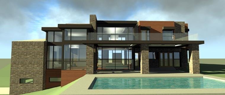 Contemporary Modern House Plan 67596 Rear Elevation