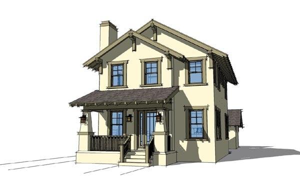 Craftsman House Plan 67598 Elevation