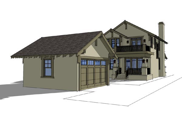 Craftsman House Plan 67598 Rear Elevation
