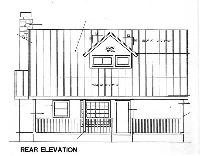 Cape Cod House Plan 67604 Rear Elevation