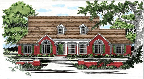 Traditional House Plan 67686 Elevation