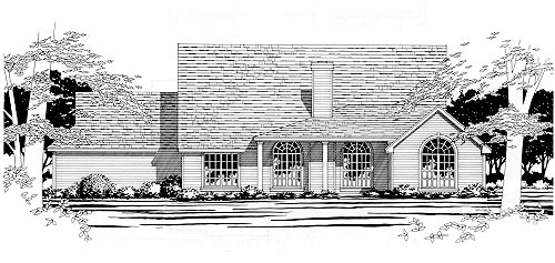 Traditional House Plan 67686 Rear Elevation