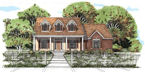 House plan 67698 at for Family home plans com