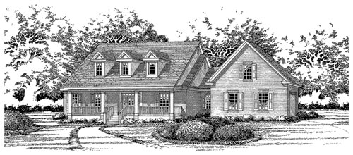 Cape Cod House Plan 67705 Elevation