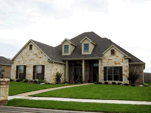 European, One-Story House Plan 67771 with 3 Beds, 3 Baths, 2 Car Garage Elevation
