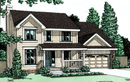 Traditional House Plan 67800 Elevation