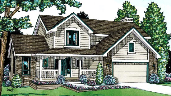 Country House Plan 67801 Elevation