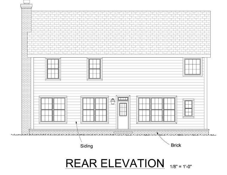 Traditional House Plan 67807 Rear Elevation