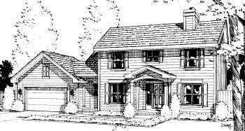 Colonial House Plan 67814 Elevation