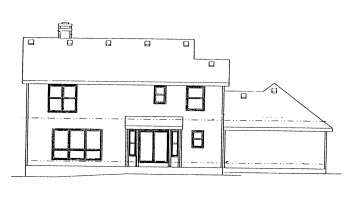 Colonial House Plan 67814 Rear Elevation