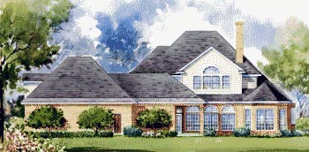Colonial House Plan 67832 Rear Elevation