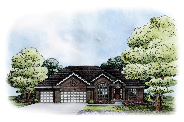Traditional House Plan 67857 Elevation
