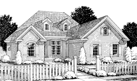 Traditional House Plan 67880 Elevation