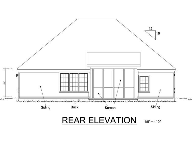 Traditional House Plan 67880 Rear Elevation