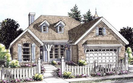 Cottage Country Elevation of Plan 67885
