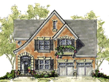House plan 67901 at for Tudor cottage plans