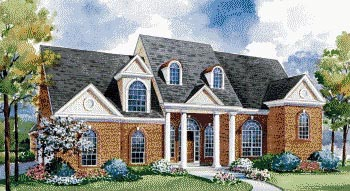 Colonial House Plan 67909 Elevation