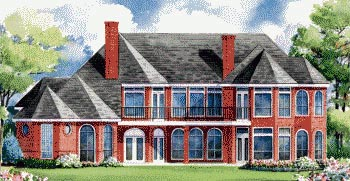European House Plan 67913 Rear Elevation