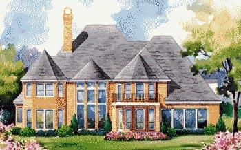 European House Plan 67916 Rear Elevation
