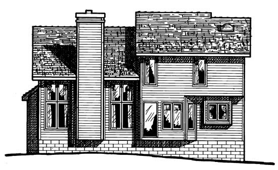 Traditional House Plan 67971 Rear Elevation