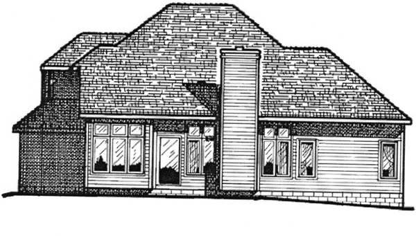 Traditional House Plan 68009 Rear Elevation