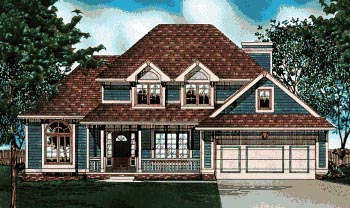 Traditional House Plan 68028 Elevation