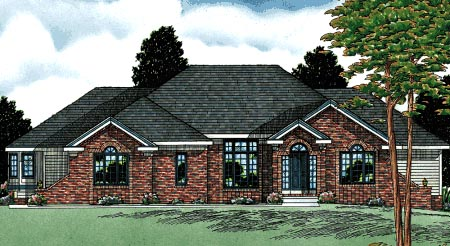 Traditional House Plan 68047 Elevation