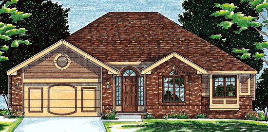 Traditional House Plan 68050 Elevation