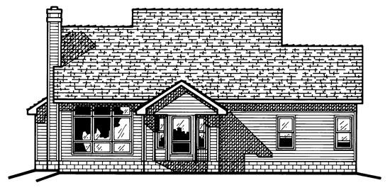 Country Farmhouse House Plan 68052 Rear Elevation