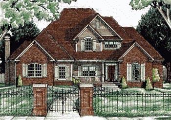 European Traditional House Plan 68061 Elevation