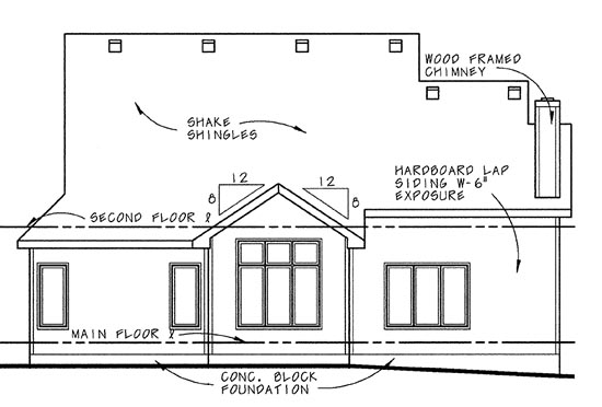 Country Traditional House Plan 68067 Rear Elevation