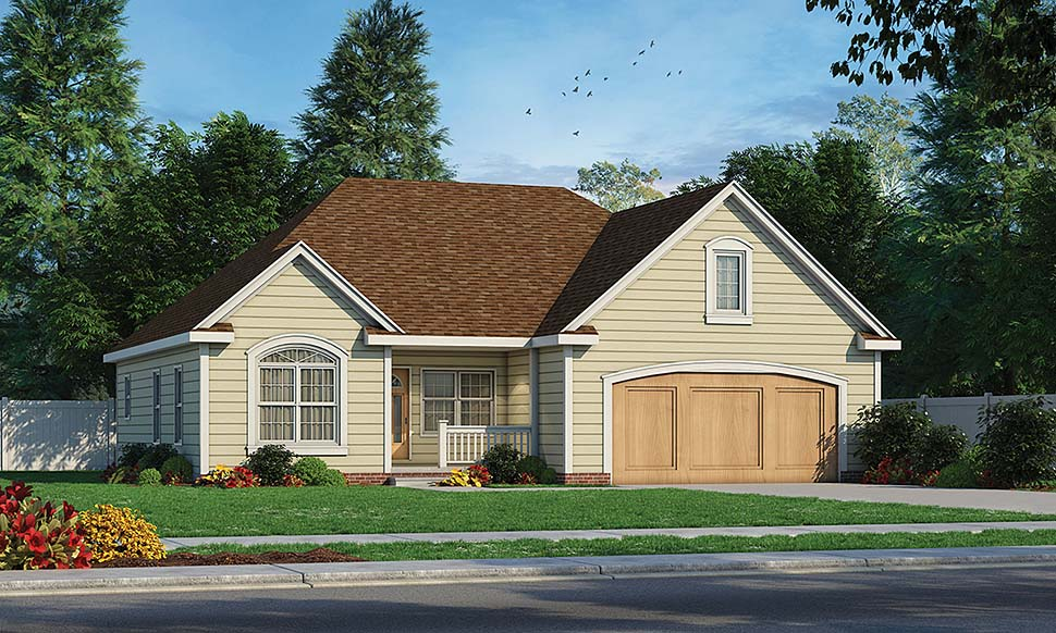 Traditional House Plan 68091 Elevation