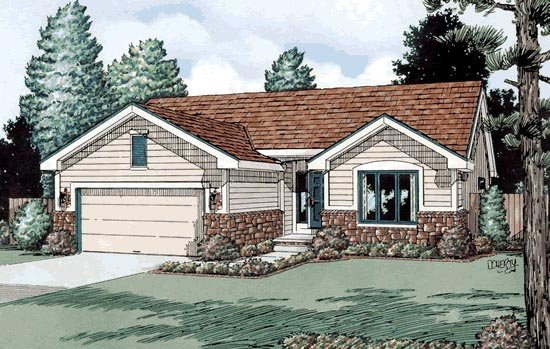 Traditional House Plan 68109 Elevation