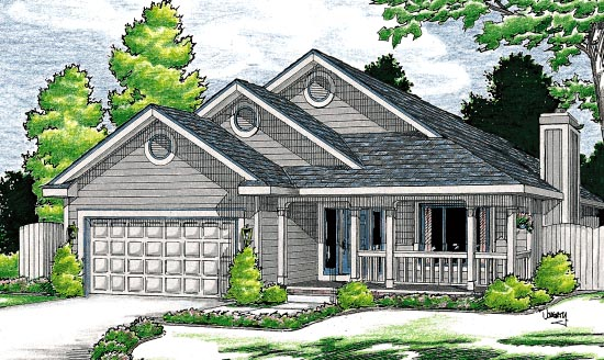 Traditional House Plan 68111 Elevation