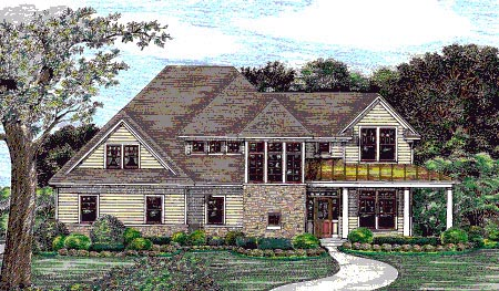 Contemporary Country House Plan 68131 Elevation